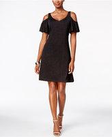 MSK Cold-Shoulder Glitter Dress
