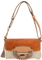 Tod's Suede-Trimmed Shoulder Bag