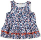 Copper Key Big Girls 7-16 Floral Pom-Pom Top