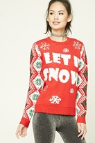 Forever 21 Let It Snow Holiday Sweater