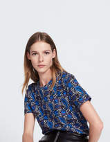 Cotton T-shirt with a floral print