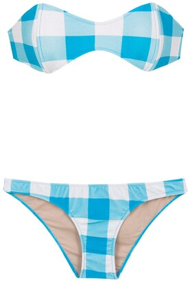 Adriana Degreas Checked Sleeveless Bikini Set
