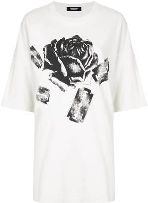 Undercover oversized rose and razor-print T-shirt