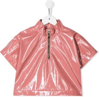 Andorine Leather Look Top