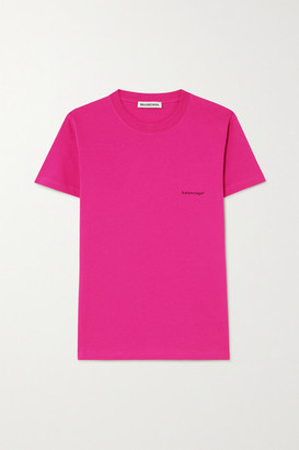 Balenciaga Printed Cotton-jersey T-shirt - Pink