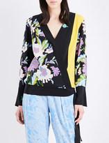 Diane von Furstenberg Floral-print silk-crepe blouse
