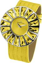 Jacques Lemans Flora 1-1638I Ladies Yellow Leather Strap Watch