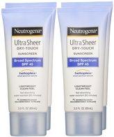 Neutrogena Ultra Sheer Dry-Touch Sunscreen - SPF 45 - 3 oz - 4 pk