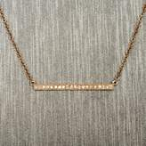 Rocks With Soul Diamond Bar Necklace Rose Gold