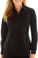 WORTHINGTON Worthington Long-Sleeve Button-Front Shirt - Tall
