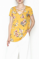 Auditions Floral Cross Tee