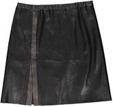 STOULS Black Leather Skirt for Women