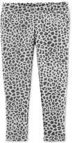 Carter Toddler Girls Animal-Print Faux-Pocket Leggings