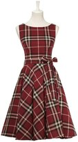 Marsen Women's Retro Classy Audrey Hepburn 1950's Dress with Belt (Multi-Colored)