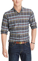 Polo Ralph Lauren Big & Tall Classic-Fit Madras Long-Sleeve Woven Shirt