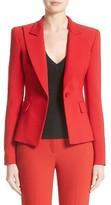 Michael Kors Women's Stretch Pebble Crepe Blazer