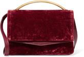 Eddie Borgo Boyd Vanity Leather-paneled Velvet Shoulder Bag - Claret