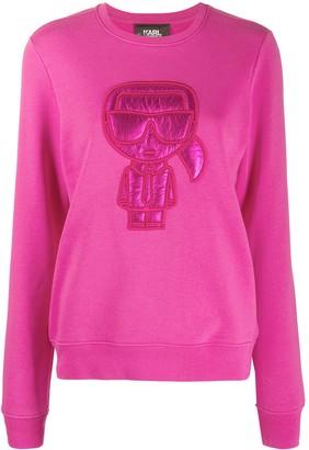 Karl Lagerfeld Paris Ikonik Puffer cotton sweatshirt