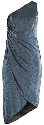 Aidan Mattox Draped Lurex Dress