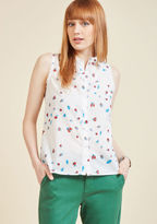 ModCloth Keep Up the Kindness Sleeveless Top in Beetles in 1X