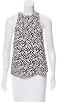 A.L.C. Sleeveless Abstract Print Top