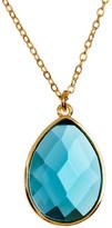 Melinda Maria Milton Blue Topaz Teardrop Pendant Necklace