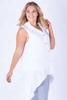 NEW Clarity By Threadz Womens Tunics Swing Vest White