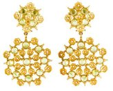 Paul Morelli 18K Floral Lace Peridot & Diamond Earrings