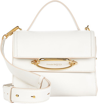 Alexander McQueen Small Double Flap Leather Bag