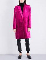 Haider Ackermann Single-breasted crushed velvet coat