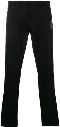 Dolce & Gabbana Low Rise Side Stripe Jeans
