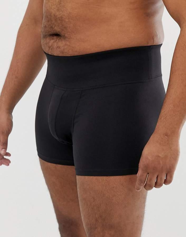 Asos Plus Shapewear Trunks In Black
