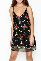 Honey Punch Floral Embroidered Dress