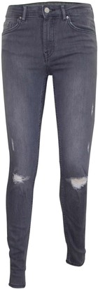 Other Ladied Stretch Ripped Grace Jeans Grey UK 12
