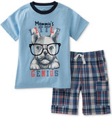 Kids Headquarters 2-Pc. Mommy's Little Genius T-Shirt & Shorts Set, Baby Boys (0-24 Months)