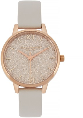 Olivia Burton Glitter Dial Rose Gold-plated Watch