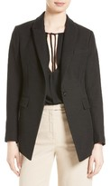 Theory Women's Etiennette One-Button Canvas Jacket