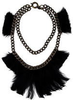 Lanvin Feather Collar Necklace