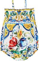 Dolce & Gabbana Maiolica-Print Bubble Bodysuit