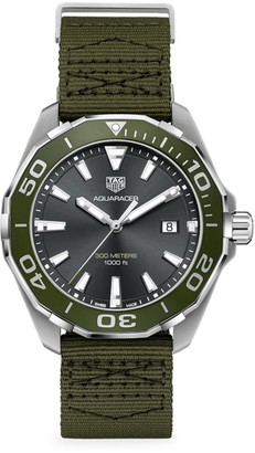 Tag Heuer Aquaracer Stainless Steel & Textile Strap Watch