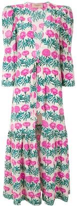 Adriana Degreas printed Flores silk robe