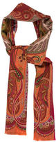Etro Wool-Blend Paisley Print Scarf