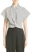 Alexander Wang Women's Twist Hem Stripe Shirt