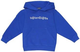 Balenciaga Kids Logo cotton-jersey hoodie