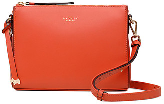 Radley London Women's Crossbodies FLAME - Flame Orange Tie-Accent Selby Street Leather Crossbody Bag