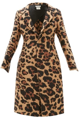 Bottega Veneta Leopard-jacquard Single-breasted Coat - Leopard