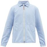 Albam - Linen-blend Harrington Jacket - Mens - Light Blue