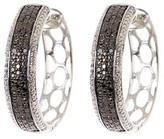 Savvy Cie Black Diamond Pave Hoop Earrings - 0.25 ctw