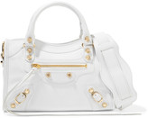 Balenciaga Classic City Mini Textured-leather Tote - White