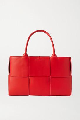Bottega Veneta Medium Intrecciato Leather Tote - Red